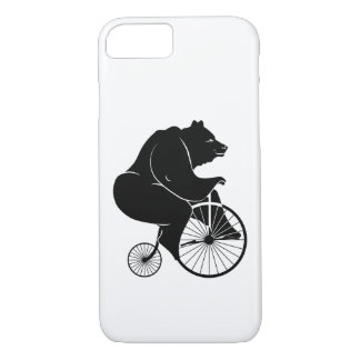 Black Bear on Vintage Bike iPhone 8/7 Case