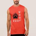 Black Bear Paw Double Woof Gay Bear Sleeveless Shirt