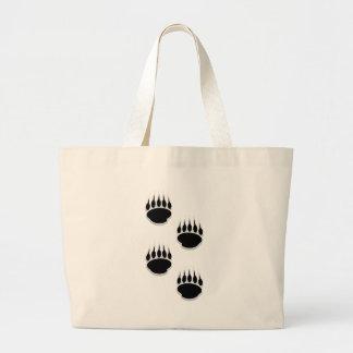 Black Bear Paw Prints Canvas Bags