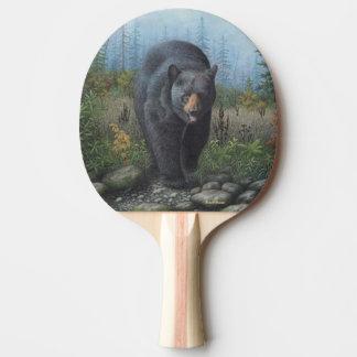 Black Bear Ping Pong Paddle