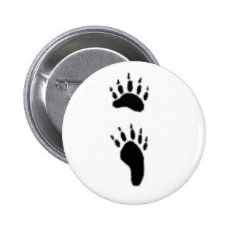 black bear print 6 cm round badge