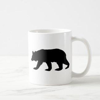 Black Bear Silhouette Basic White Mug