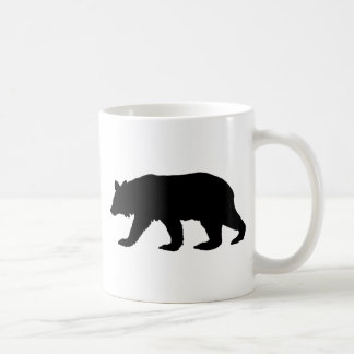 Black Bear Silhouette Coffee Mug