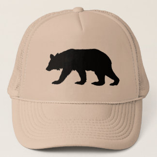Black Bear Silhouette Trucker Hat