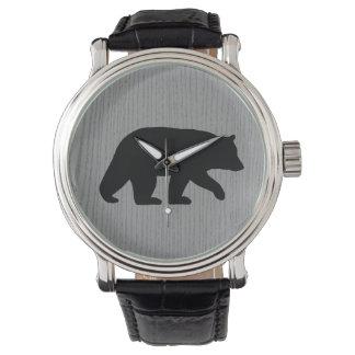 Black Bear Silhouette Watch