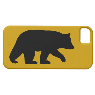 Black Bear Silhouette with Custom Background Color iPhone 5 Covers