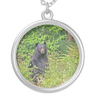 Black Bear Standing Up Personalized Necklace