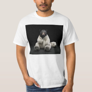 Black bear wearing polar bear costume T-Shirt