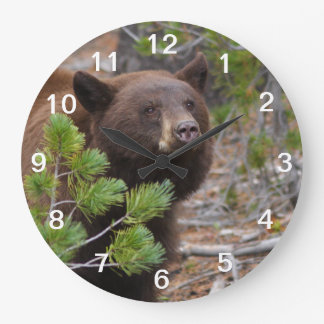 Black Bear with Blond Color Wall Clock