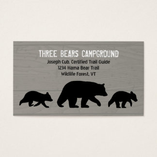 Black Bear with Cubs Silhouettes