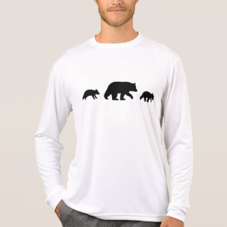 Black Bear with Cubs Silhouettes T-Shirt