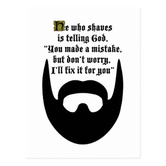 black beard postcard