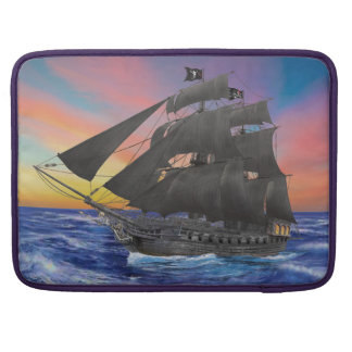 Black Beard's Pirate Ship Sleeve For MacBook Pro