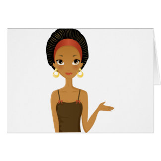 Black beauty greeting cards