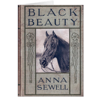Black Beauty First Edition Cover, Birthday Greeting Card