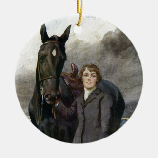 Black Beauty - She Chose Me For Her Horse Christmas Ornament