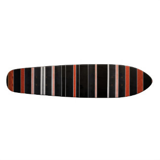 BLACK Beauty Stripes Custom Skateboard