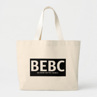 Black BEBC Bold Logo Jumbo Tote Bag