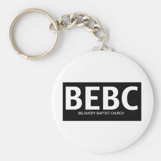 Black BEBC Bold Logo Basic Round Button Key Ring