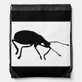 Black Beetle Pop Art Drawstring Backpack