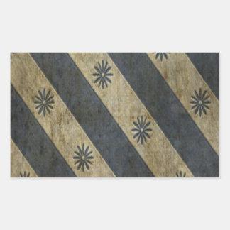 Black Beige Floral Stripe Grunge Sticker