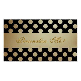 Black Beige Pattern Elegant Polka Dots Modern Chic Pack Of Standard Business Cards