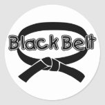 Black Belt 2 Round Sticker