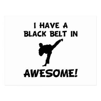 Black Belt Awesome Postcard