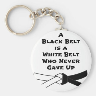 Black Belt Basic Round Button Key Ring
