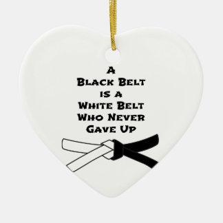 Black Belt Ceramic Heart Decoration
