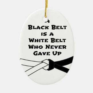 Black Belt Ceramic Oval Decoration