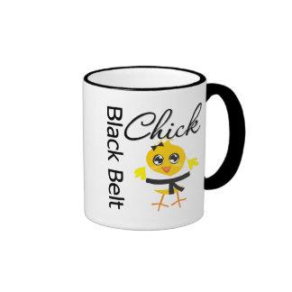 Black Belt Chick Ringer Mug