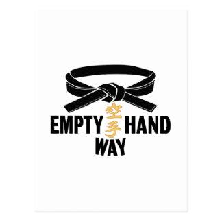 Black Belt Empty Hand Way Postcard