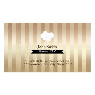 Black Belt Gold Foil Stripes Personal Chef Business Card Templates