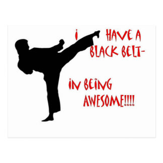 Black belt in awesome postcard