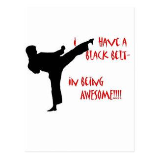 Black belt in awesome postcard