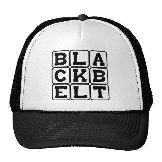 Black Belt Karate Ranking Mesh Hats