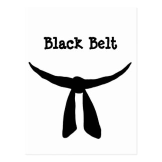 Black Belt Party Postcard