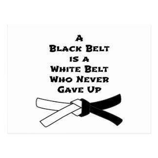Black Belt Postcard