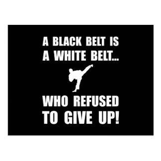 Black Belt Refusal Postcard
