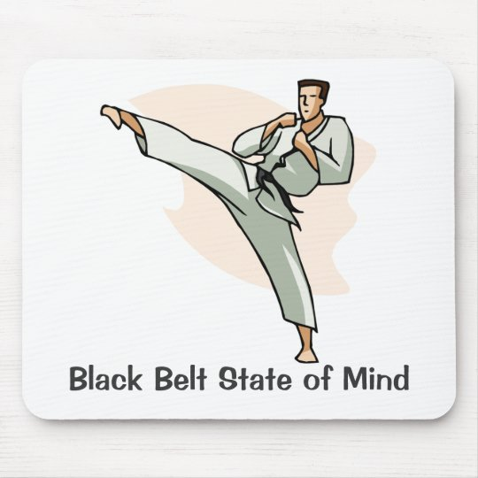 Black Belt State of Mind Mousepad, style 2 Mouse Mat