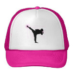 Black Belts Wear Pink Too! Mesh Hat