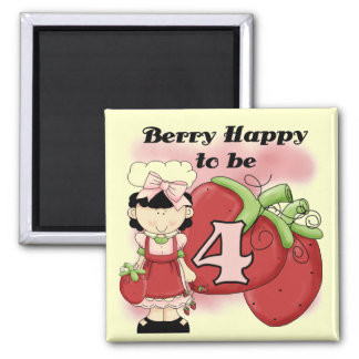 Black Berry 4th Birthday Tshirts and Gifts Magnet