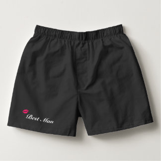 Black Best Man Boxers