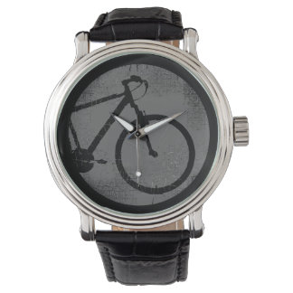 black bicycle watch