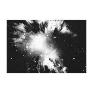 black Big Bang Canvas Print