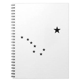 Black Big Dipper Spiral Notebook