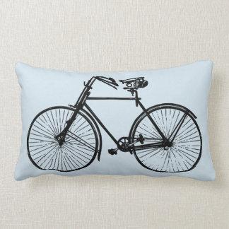 black bike bicycle Throw pillow sea foam blue sky