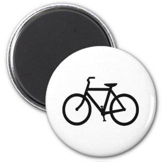 Black Bike Route Magnet