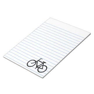 Black Bike Route Notepad